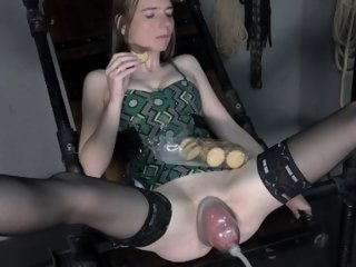 Anorectic girl is fisted