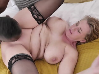 My Fair-haired boy Milf gets banged away from BBC